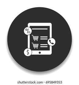 tablet online buy icon