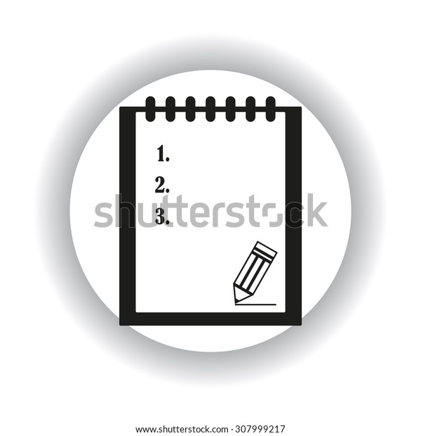 tablet with paper. icon. vector design