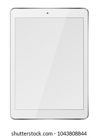 Tablet pc computer with blank screen isolated on white background. Vector illustration.