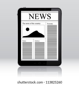 Tablet pc news application