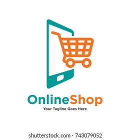 Tablet in shopping trolley icon isolated on white. Online shopping concept. Digital smartphone added to cart or to wish list of purchases. E-commerce buying vector illustration logo in flat style