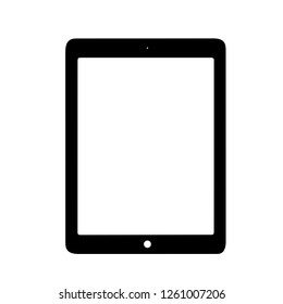 tablet silhouette isolated