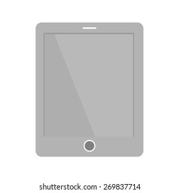 Tablet, smart device, touch screen icon vector image. Can also be used for communication, connection, technology. Suitable for web apps, mobile apps and print media.