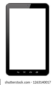 Tablets in a flat vector style