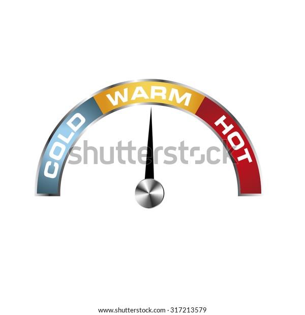 Tachometer cold, warm, hot