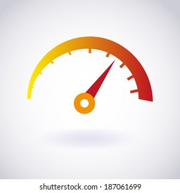 Tachometer icon. Vector EPS10