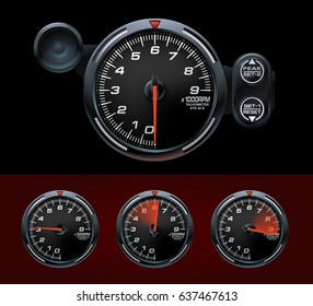 Tachometer  Speedometer Dashboard  Car Motorbike