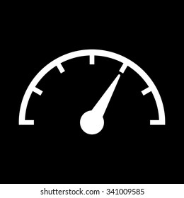 The tachometer, speedometer and indicator icon. Performance measurement symbol. Flat Vector illustration