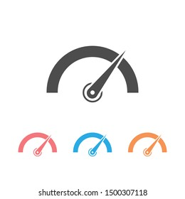 Tachometer, speedometer, indicator and performance icon set. Fast speed sign logo. Vector