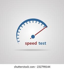 Tachometer, Speedometer symbol of speed test, business concept. vector illustrations