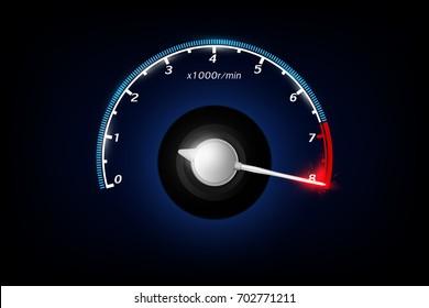 Tachometer. Vector illustration.
