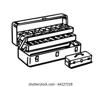Tackle Box - Retro Clipart Illustration