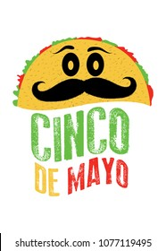 taco character cinco de mayo mexico poster colorful food