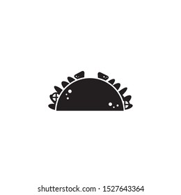 taco fast food line style icon vector illustration design