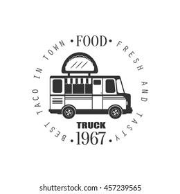 Taco Food Truck Label Design