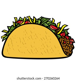 cartoon taco images stock photos vectors shutterstock rh shutterstock com tacos clipart free tacos clipart pictures
