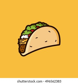 Taco Illustration in Vector Graphics