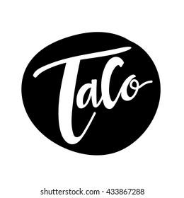 taco logo, Mexican food logo template.