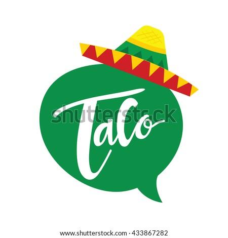 taco logo mexican food logo template stock vector royalty free