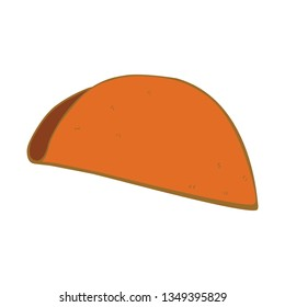 Taco shell vector without any ingredients isolated