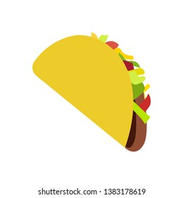 Taco Social Media Emoji. Modern Simple Vector For Web Site Or Mobile App