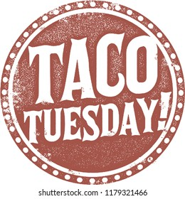 Taco Tuesday Restaurant Promotion Sign Stamp