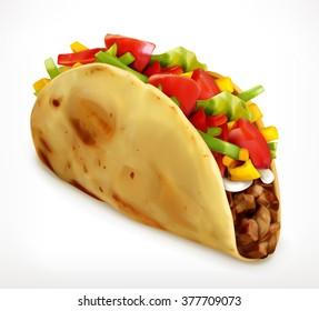 Taco, vector icon