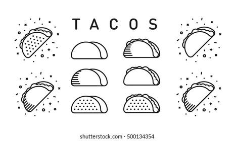 Tacos Icon Set