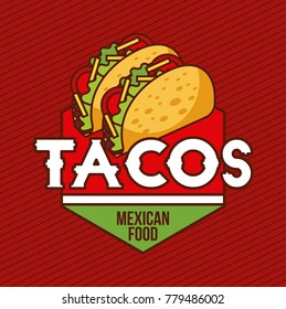 tacos mexican food card advertising banner