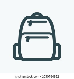Tactical backpack vector icon