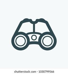 Tactical binoculars vector icon