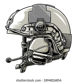 tactical helmet military in beground white