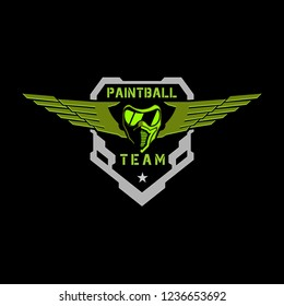 Tactical mask paintball military badge wings logo