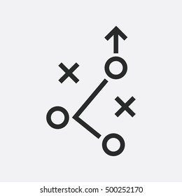 Tactical plan line icon. vector