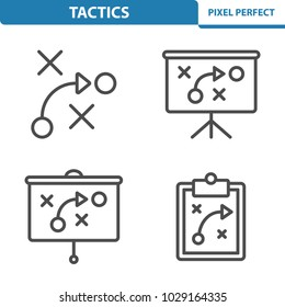 Tactics Icons. Professional, pixel perfect icons optimized for both large and small resolutions. EPS 8 format. 5x size for preview.