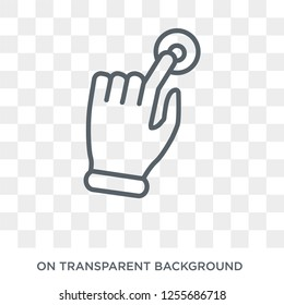 Tactil gesture icon. Trendy flat vector Tactil gesture icon on transparent background from Hands and guestures collection. High quality filled Tactil gesture symbol use for web and mobile