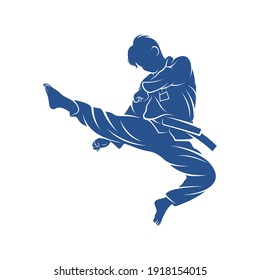Taekwondo design vector illustration, Creative Taekwondo logo design concepts template, icon symbol