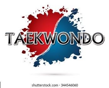 Taekwondo, Font , text  graphic vector
