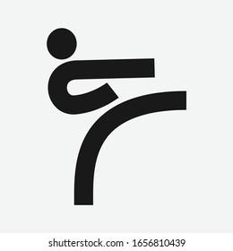 Taekwondo icon symbol. Karate logo design