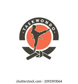 Taekwondo Logo Design Template. Vector Illustration