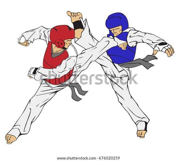 Taekwondo Martial Art Stock Vector Royalty Free 676020259