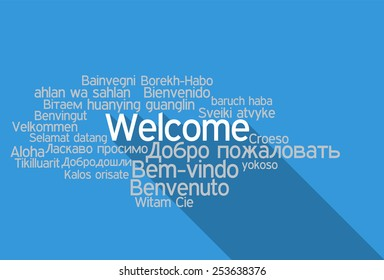 Tag Cloud  Welcome in vector format