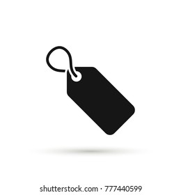 Tag icon, price label symbol, vector isolated simple illustration.