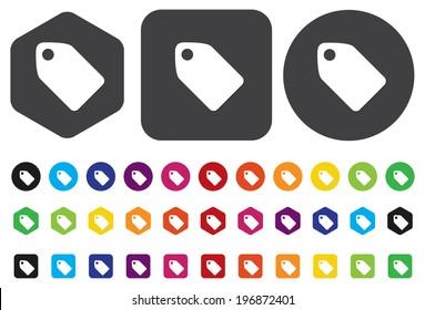 Tag label button