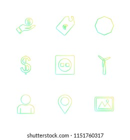 tag  navigation  dollar  money  image  shapes  electronic  time  ecology  icon vector design  flat  collection style creative  icons  traingle  square  hexagon  pentagon  battery  electricity