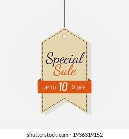 Tag sale discount label 10 off Vector