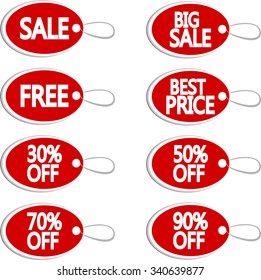 Tag sale and discount labels