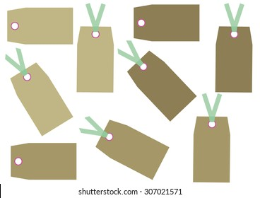 Tags Gift Set Vector