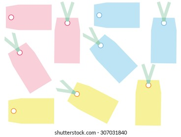 Tags Labels Set Vector