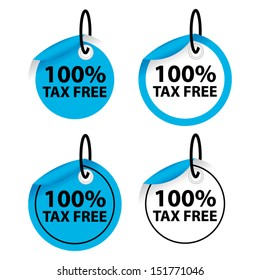 Tags and labels sticker TAX free collection - Vector illustration - EPS10